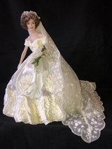 """Jackie Kennedy Franklin Mint 16"""" Porcelain Wedding Doll in Chicago, Illinois"""