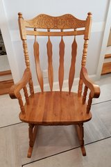 Classic Oak Rocking Chair in Okinawa, Japan
