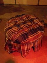 FABRIC FOOT STOOLS:  ROUND (shown) and  RECTANGULAR in Chicago, Illinois