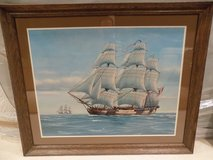 Framed Sailing Ship Poster in Lockport, Illinois