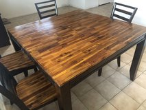 Large Wooden Dining Table and 6 Chairs in Fairfield, California