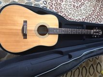 great acoustic guitar with hard side case in 29 Palms, California