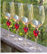 4 ELEGANT Wine Glasses, Crystal, 20 OZ BEAUTIFUL! in Alamogordo, New Mexico