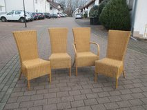 4 pretty rattan chairs in Ramstein, Germany