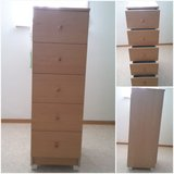 tall cabinet with 5 drawers beech color in Ramstein, Germany