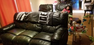 Black Leather Couch & 2 Recliners in Fairfield, California
