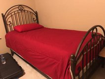 Ethan Allen Wrought Iron Twin Beds (2) with mattresses in Houston, Texas