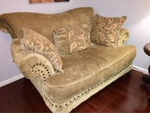 Living Room Set -  couch, loveseat, chair, lamp, table, ottoman in Chicago, Illinois