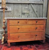 Antique Solid Wood Dresser with Marble Top in Ramstein, Germany
