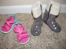 Cute Silver Boots Toddler Size 5, Pink Carter Sandals Size 5 in Bolingbrook, Illinois