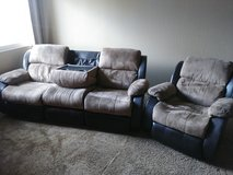Reclining Sofa Couch and Recliner in Fairfield, California