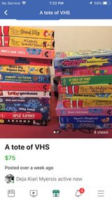 Full Tote of VHS in Leesville, Louisiana