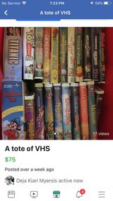 Full Tote of VHS 2 in Leesville, Louisiana
