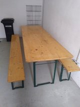 Beer bench table set in Ramstein, Germany