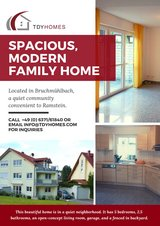 Spacious, Modern Family Home Near Ramstein For Rent in Ramstein, Germany