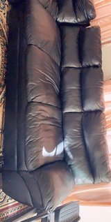 Leather L shape sectional in Hemet, California