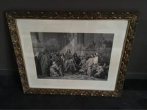 beautiful antique french frame with print Jesus entry Jerusalem in Ramstein, Germany