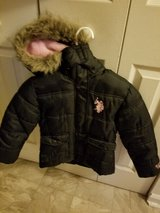 Little girl Polo jacket size 5 to 6 and boots size 10 in Leesville, Louisiana