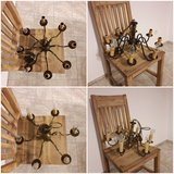 chandelier bronze 6 or 8 lamps 2 available in Ramstein, Germany
