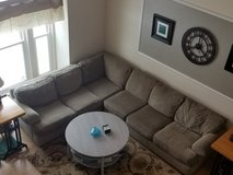 """Sectional Sofa Couch Brown / Khaki 90"""" x 80"""" 2 pieces 10 years old in Lockport, Illinois"""