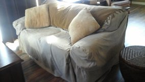 Love Seat Sofa Couch w/Sure Fit Upholstered Cover-Sandwich. 60548 Location in Lockport, Illinois