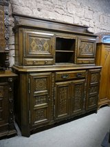 France Buffet ,3 parts with carvings in Ramstein, Germany