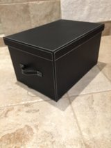 Faux Leather Storage Boxes in Kingwood, Texas