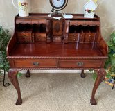 "VINTAGE STYLE BEAUTIFUL MAHOGANY DESK WITH MANY ""HIDDEN DRAWERS"" makes this desk truly unique. S... in Lockport, Illinois"