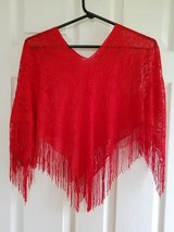 BRAND NEW! Red Lace Shawl Poncho in Clarksville, Tennessee