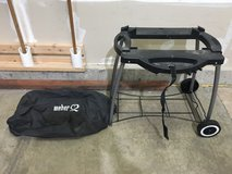 Weber Q grill portable stand and cover in Bolingbrook, Illinois