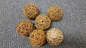 Rattan Balls / set of 7 in Kingwood, Texas