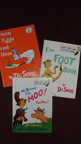 Dr. Seuss (3) children's books, Mr. Brown can Moo!, Green Eggs, Foot Book in Alamogordo, New Mexico