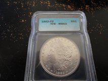 1882 CC ms 63 morgan dollar in Fort Campbell, Kentucky