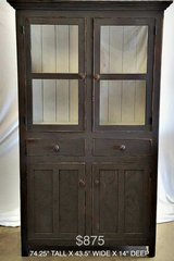 1800's Vintage Hutch - Authentic Antique Solid Pine - Repro/distressed in Kingwood, Texas