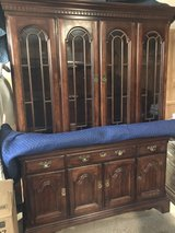 Solid Wood 2 pc China Cabinet in Houston, Texas