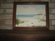 Hand painted beach picture in Kingwood, Texas
