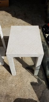 Small White Wicker Table in Kingwood, Texas