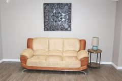Modern sofa- Orange/Beige in Houston, Texas