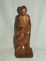 Joseph Mary & Baby Jesus Carved wooden Statue Figurine in Bolingbrook, Illinois