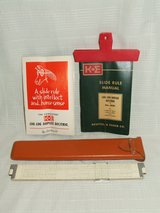 K+E Slide Rule 4081-3S Log Log Duplex Decitrig Leather Case Manual & Box in Lockport, Illinois