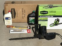 Pole Saw + Chain Saw 24v 2 Batteries & 2 chargers + + + more in Alamogordo, New Mexico