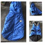 SM blue dog coat from Top Paw in Naperville, Illinois