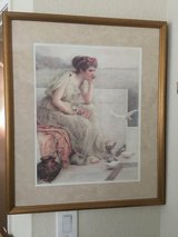 Very Nice framed 19 X 15 Print of  Lady thinking in Fairfield, California