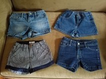 4 Pair/Girls Jean Shorts, Size 6 in Fort Campbell, Kentucky