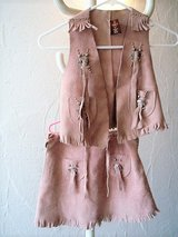 Dress Up genuine leather cowgirl costume size M (about a 7-8 US) or 134 (EU) in Stuttgart, GE