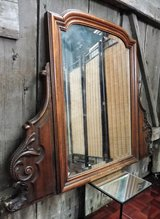 Antique Solid Oak Wall Mirror Inch Thick Wood in Ramstein, Germany