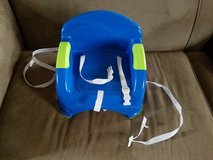 Blue/Green Booster Seat with Straps in Fort Campbell, Kentucky