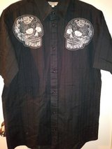 Youth Skulls dress shirt in The Woodlands, Texas