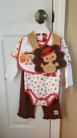 Girls Thanksgiving Outfit, Size 9M in Clarksville, Tennessee
