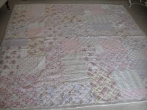 Pretty Floral Quilt and Free Bedskirt-QUEEN in Bolingbrook, Illinois